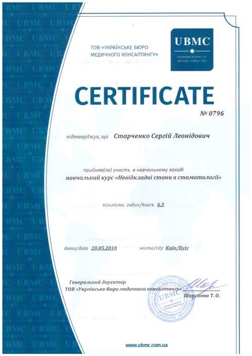 Сертификат врача Sandora #7