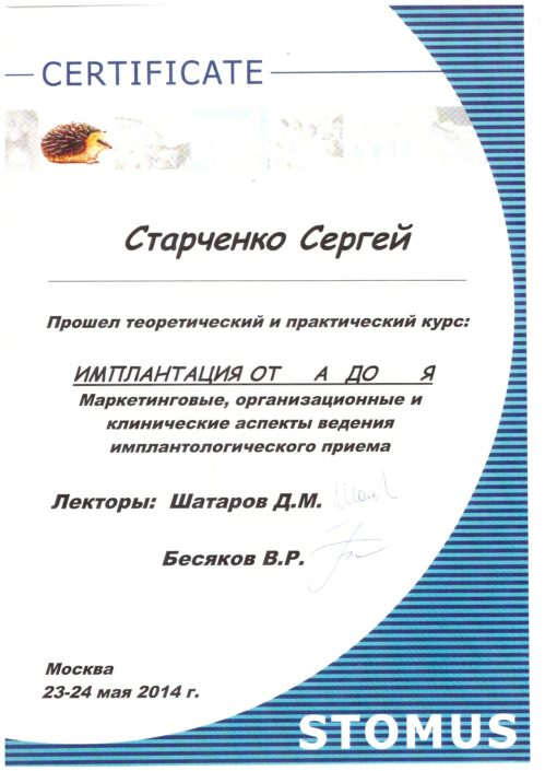 Сертификат врача Sandora #8
