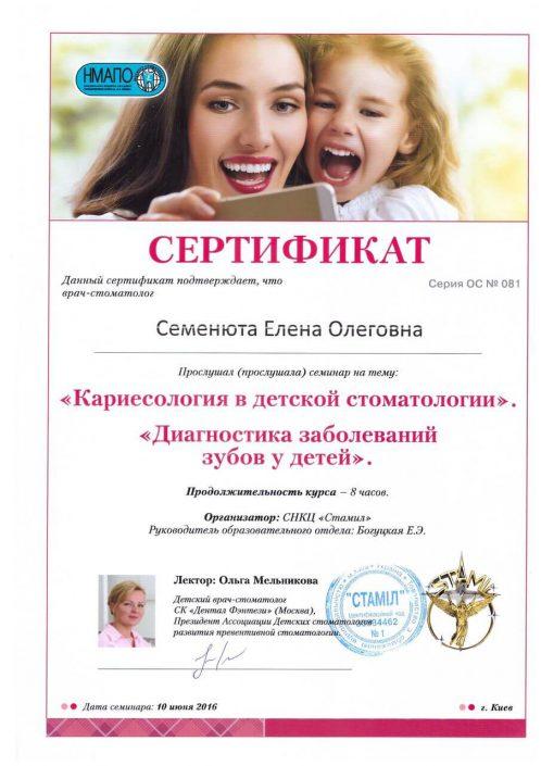 SANDORA doctor's certificate #13