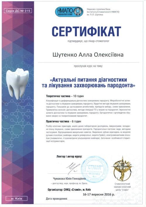 SANDORA doctor's certificate #15