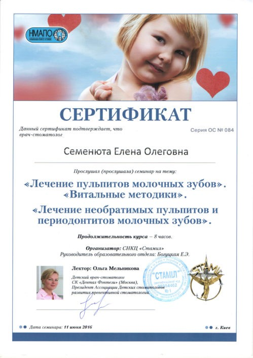 Сертификат врача Sandora #20