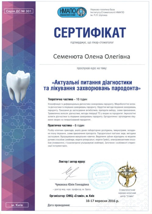 SANDORA doctor's certificate #16